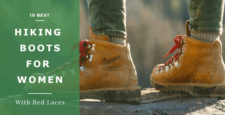 best hiking boots for women with red laces