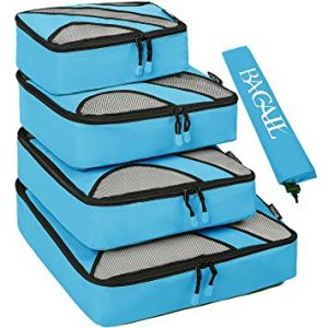 4 Set Packing Cubes, Travel Luggage Packing Organizers with Laundry Bag