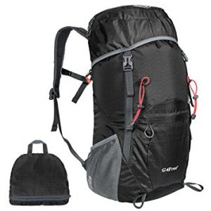 G4Free Large 40L Lightweight Water Resistant Travel Backpack