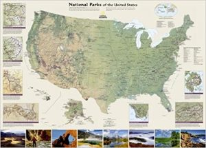 National Parks Wall Map