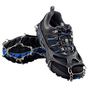 OuterStar Traction Cleats Ice Snow Grips Anti Slip 12 Stainless Steel Spikes Crampons
