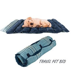Portable Dog Bed Roll-Up Pet Mat Crate Pad