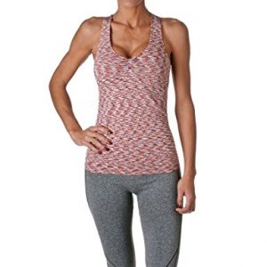 Riverberry Women's Actives Racerback Yoga Workout Exercise Top with Built-in Shelf Bra