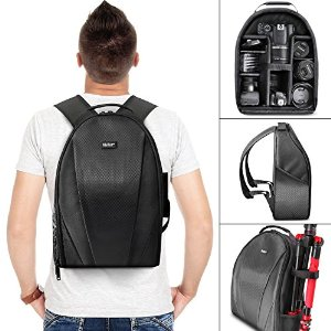 Vivitar Camera Backpack Bag for DSLR Camera, Lens, and Accessories