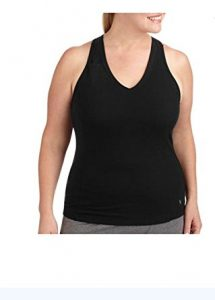 Women's Plus-Size Dri-More racerback mesh tank with built in bra - Gym