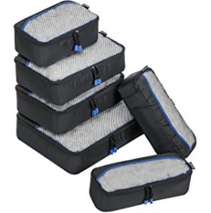 ZOMAKE Packing Cubes 6pcs Set Travel Accessories Organizers Versatile Travel Packing Bags