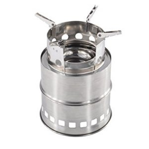 iRegro Portable Collapsible Stainless Steel Outdoor Backpacking Camping Wood Stoves