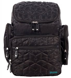 Shona Quilted 5 Piece Diaper Bag Backpack