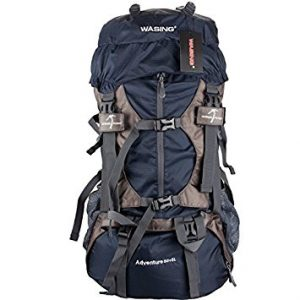 WASING 55L Internal Frame Backpack Hiking Backpack