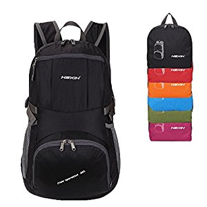 HEXIN Foldable Backpack Lightweight Men & Women Daypack 25L