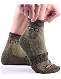 YingDiMens Copper Fiber Support Ankle Fit Anti Odor Sport Socks