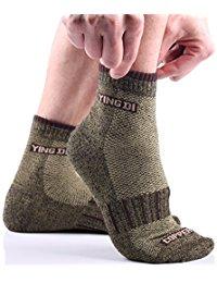 YingDiMens Copper Fiber Support Ankle Fit Anti Odor Sport Socks