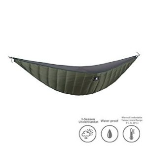 One Tigris Hammock Underquilt, Lightweight Packable Full Length Under Blanket for Camping Backpacking Backyard