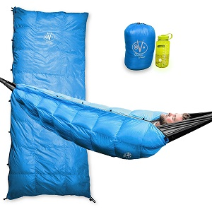 Outdoor Vitals Aerie 30°F Down Underquilt/ Sleeping Bag, Use As Ultralight Underquilt, Sleeping Bag, Or Double Bag